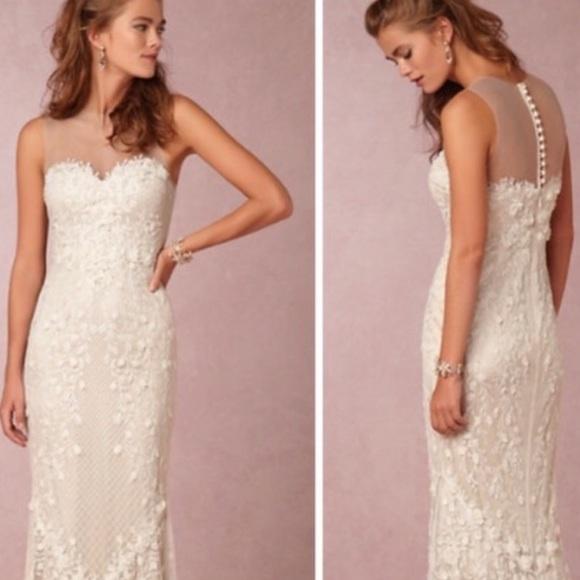 Anthropologie Dresses Bhldn Catherine Deane Wedding Dress Poshmark